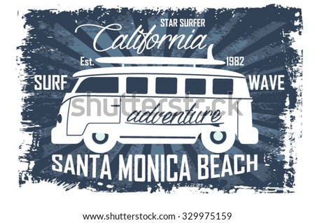 surfer vector setvintage surf