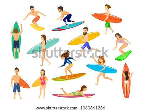 surfers set men and women