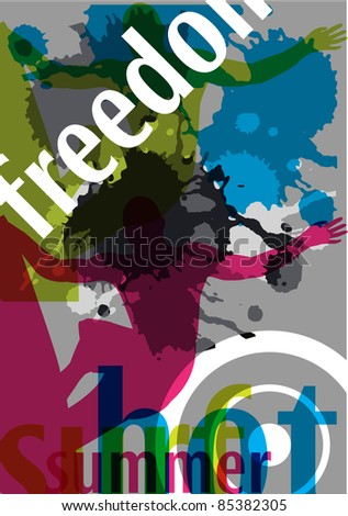 surfing abstract background vector