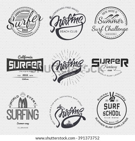 Surf club Random Royalty-Free Vectors | Imageric com