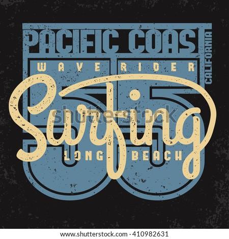surfing california t shirt