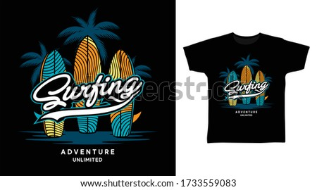 surfing design vector with