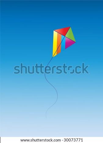Surfing kite in sky