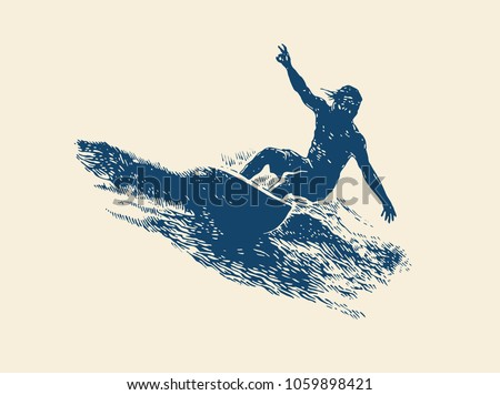 surfing  logo design surfer