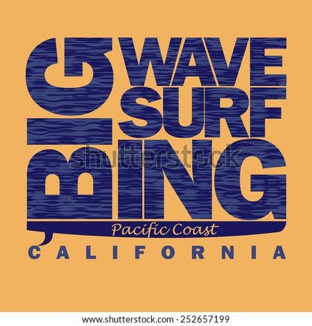 surfing t shirt graphic design