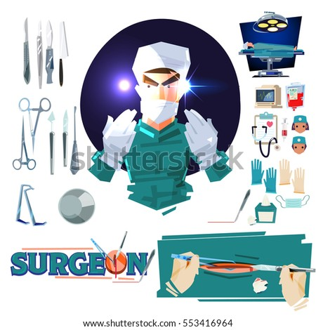 surgeon doctor character design
