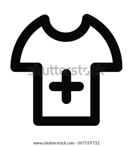 surgeon shirt bold line vector