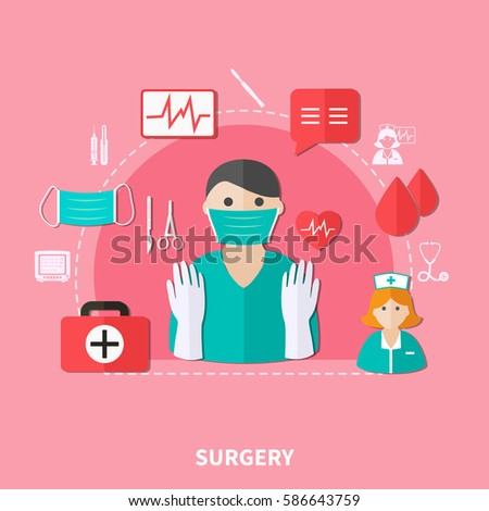 surgery flat composition with