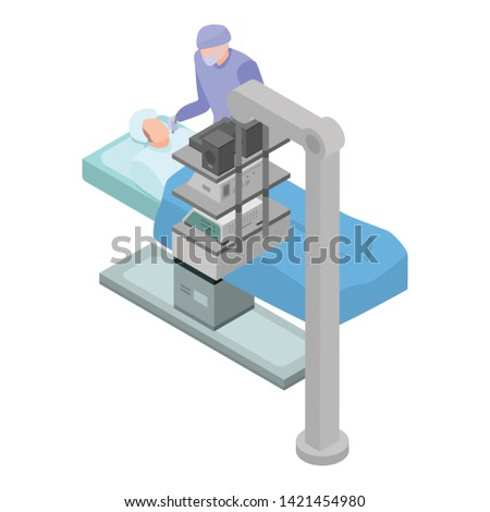 Surgery operation icon. Isometric of surgery operation vector icon for web design isolated on white background