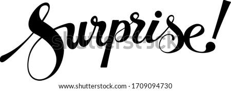 Surprise - custom calligraphy text Stock foto ©