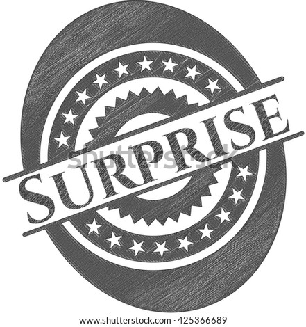 Surprise draw with pencil effect