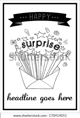 surprise print/ vector poster design template/ layout design/ background/ abstract web design/ wallpaper