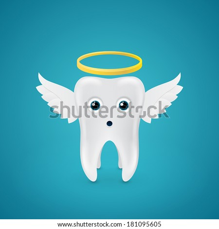 surprised angelic tooth with