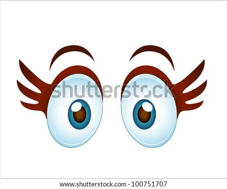 Surprised Cartoon Girl Eye