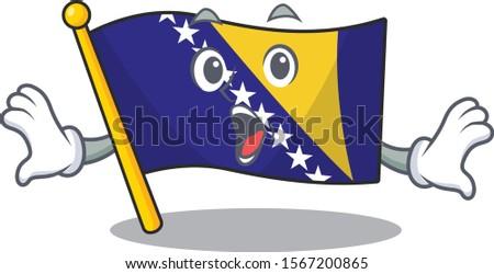surprised flag bosnia face