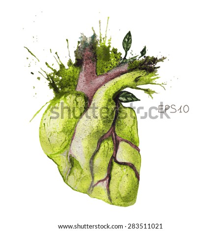 surreal illustration of heart