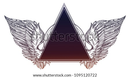 surreal triangle frame with