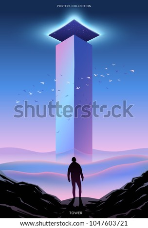surreal vector poster