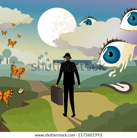 surrealism landscape background