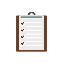 survey questionnaire Icon-report icon-clipboard icon-checkbox illustration- checklist symbol-survey vector