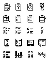 Survey Questionnaire Icon Set