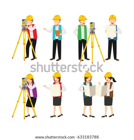 Surveyor character design vector.