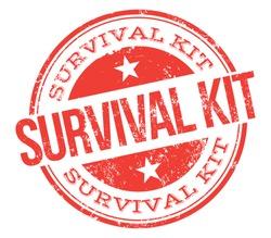 Survival Kit. Red Stamp.