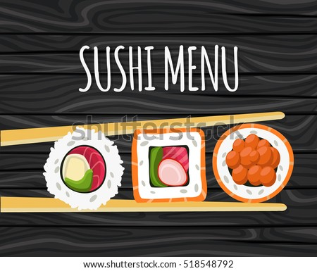 sushi  japanese food on a