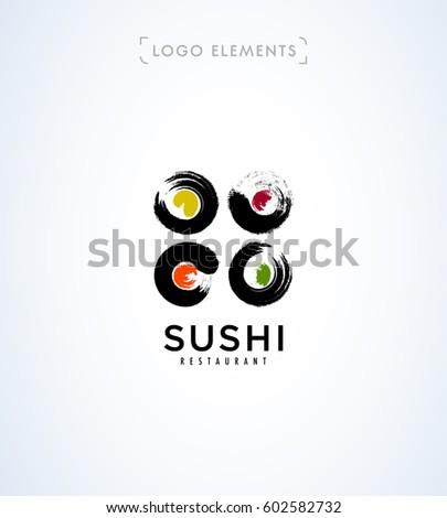 Sushi logo template