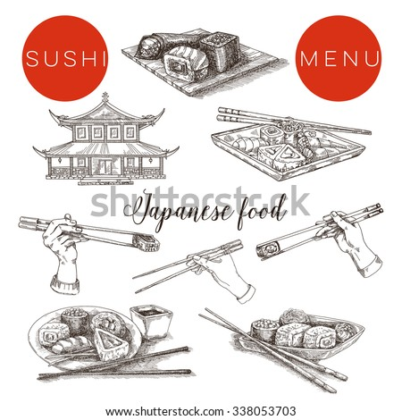 sushi menu  japanese breakfast