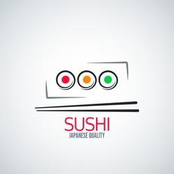 sushi roll plate menu background