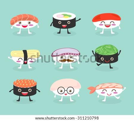 sushi set  cute sushi set