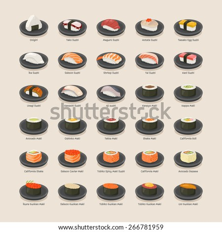 Sushi set , eps10 vector format