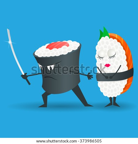 sushi vector logo design