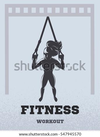 suspension training icon girl