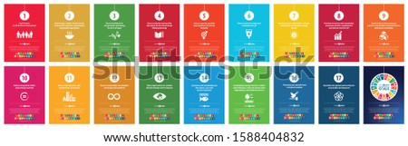 Sustainable Development Goals - the United Nations. SDG. #goalsforgood. The 17 sustainable development goals (SDGs) to transform our world. Easy editable for your business use.