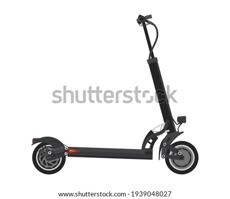 Sustainable transport - Electric Kick Scooter icon. Isolated vector illustration