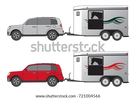 SUV and Horse Trailer
