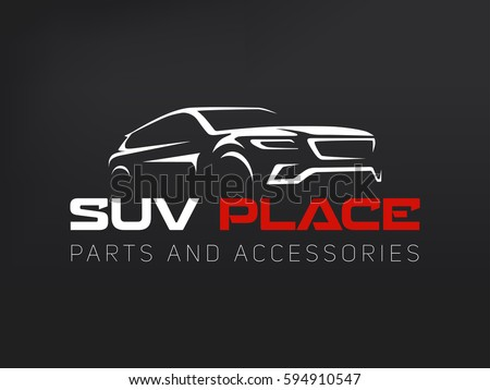suv car logo on dark background