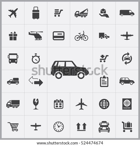 SUV transport icon. delivery icons universal set for web and mobile