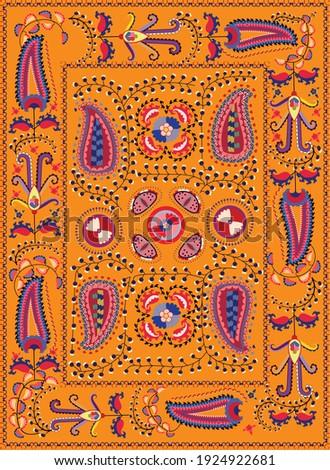 Suzane - orient pattern carpet (Uzbekistan) for interior