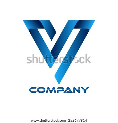 SV company linked letter logo Stock fotó ©
