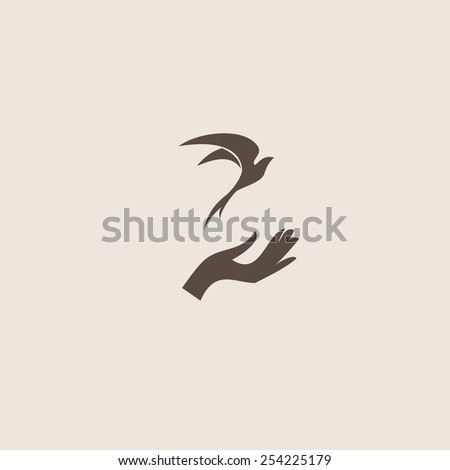 swallow bird abstract vector