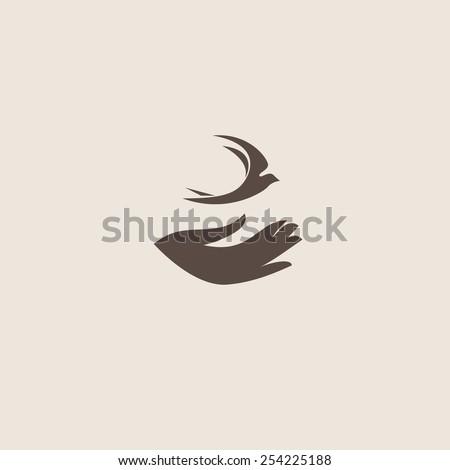Swallow bird abstract vector logo design template. Creative concept symbol icon.