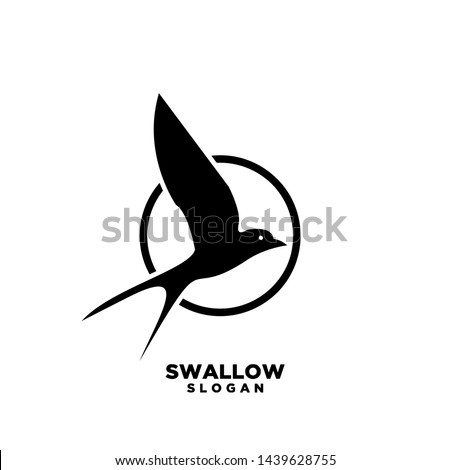 Swallow circle logo. Isolated swallow on white background. Vector illustration Photo stock ©