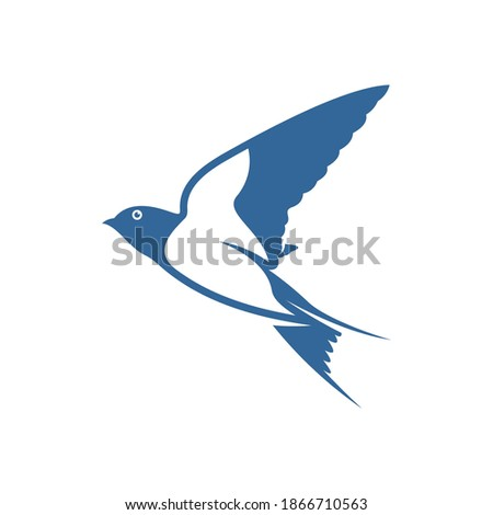 Swallow logo vector template, Creative swallow logo design concepts, icon symbol, illustration Foto stock ©