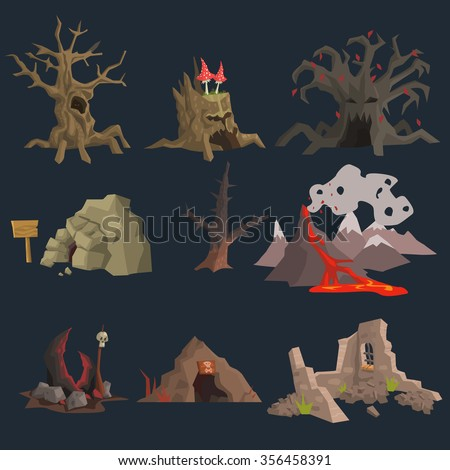 swamp  tree and cave game