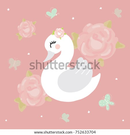 swan baby girl room