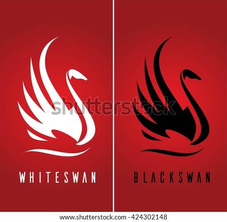swan beautiful swan swan logo