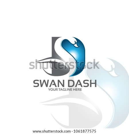 swan d logo tempate